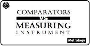 What is the difference between Comparators and Measuring Instruments?