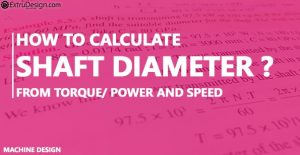 How to calculate the shaft diameter from the torque?