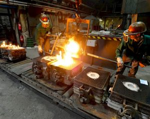 Casting processes - pouring metal