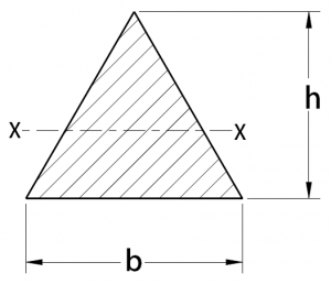 Cross-Section Properties of Triangle