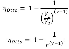 thermal efficiency of the Otto cycle