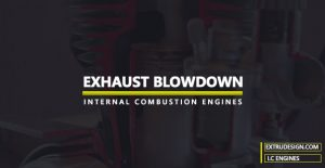 What is Exhaust Blowdown in Actual Cycles?