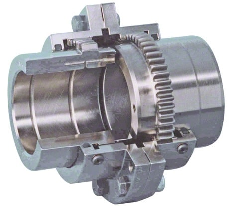 Flexible coupling types: Gear coupling