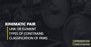What are the Kinematic pairs? |classification|
