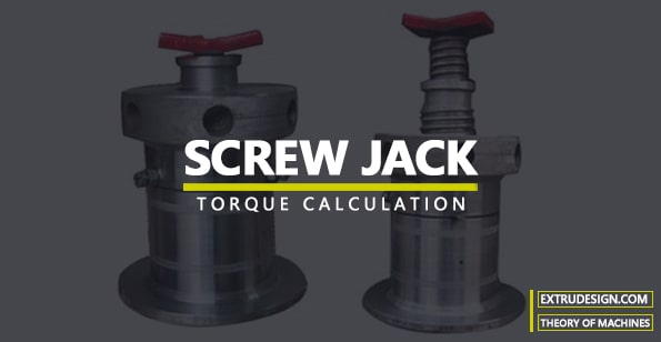 Torque required to lift the load by a Screw Jack