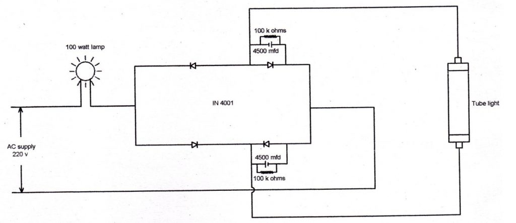 NEW CIRCUIT FOR ELECTRONIC CHOKE FOR TUBE LIGHT
