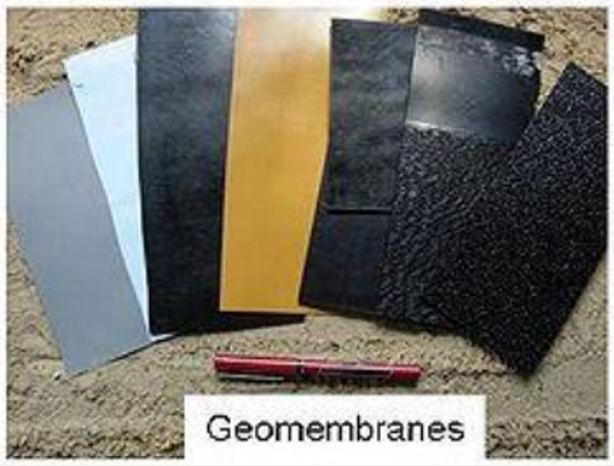Plate 2: picture showing different types of geomembranes