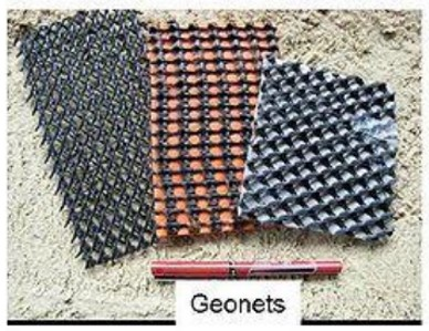 Figure 4: picture showing different types of geonets