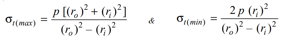 Stresses in Thick Cylindrical Shell from lames equation